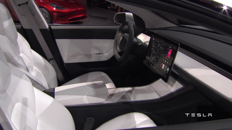 Interieur Tesla Model 3